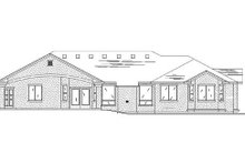 Home Plan - Traditional Exterior - Rear Elevation Plan #5-260