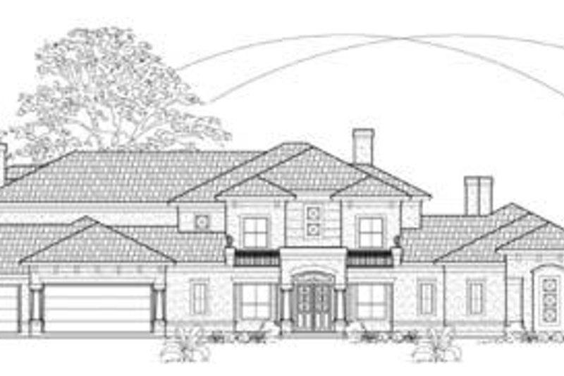European Exterior - Front Elevation Plan #61-152 - Houseplans.com