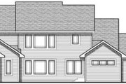 Craftsman Style House Plan - 4 Beds 3.5 Baths 2782 Sq/Ft Plan #70-630 Exterior - Rear Elevation