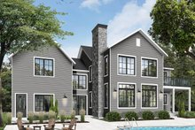 Farmhouse Exterior - Rear Elevation Plan #23-2688