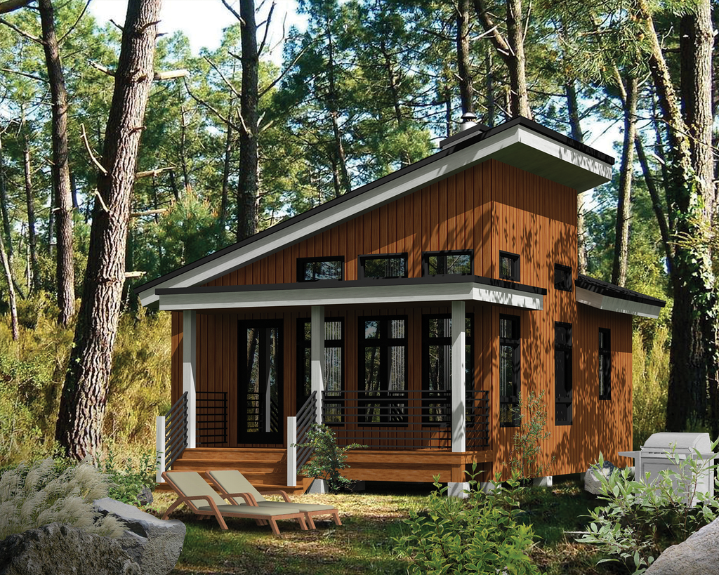 Cabin Style House Plan 1 Beds 1 Baths 480 Sq Ft Plan 25 4286 Eplans Com