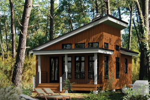 Architectural House Design - Cabin Exterior - Front Elevation Plan #25-4286