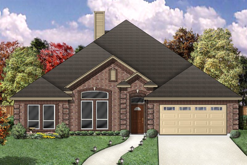 Architectural House Design - Traditional Exterior - Front Elevation Plan #84-358