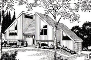 Modern Exterior - Front Elevation Plan #312-840