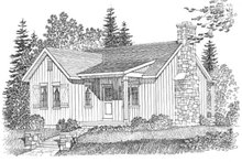 House Design - Cottage Exterior - Front Elevation Plan #22-572
