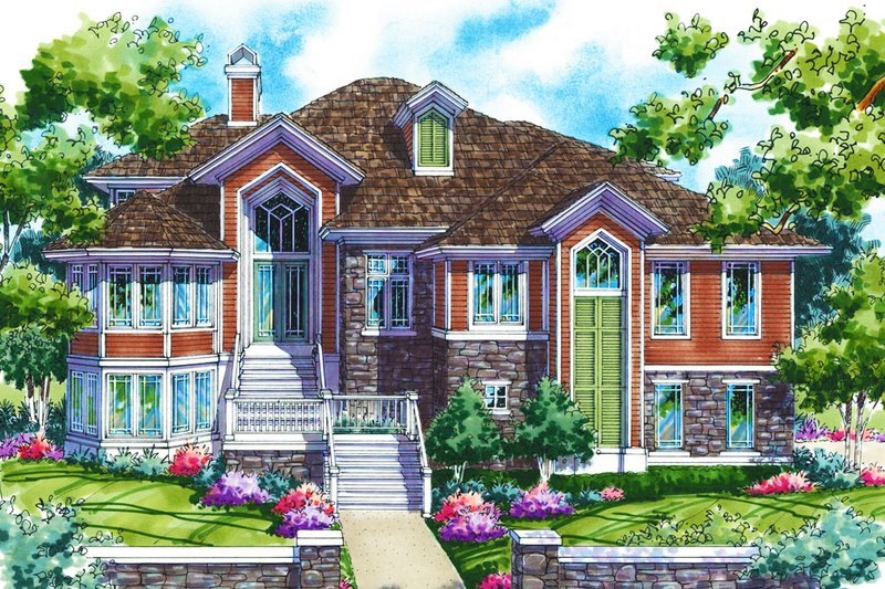 Home Plan - Traditional Exterior - Front Elevation Plan #930-133