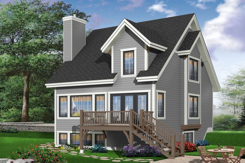Traditional Exterior - Rear Elevation Plan #23-663 - Houseplans.com