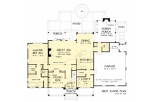 Farmhouse Floor Plan - Main Floor Plan Plan #929-1039