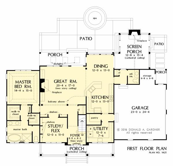 Farmhouse Floor Plan - Main Floor Plan #929-1039