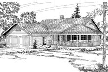 Home Plan - Traditional Exterior - Front Elevation Plan #124-154