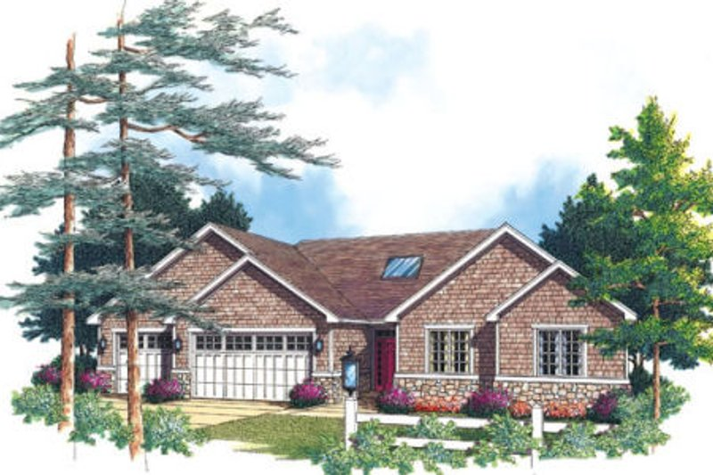 Traditional Exterior - Other Elevation Plan #48-289 - Houseplans.com