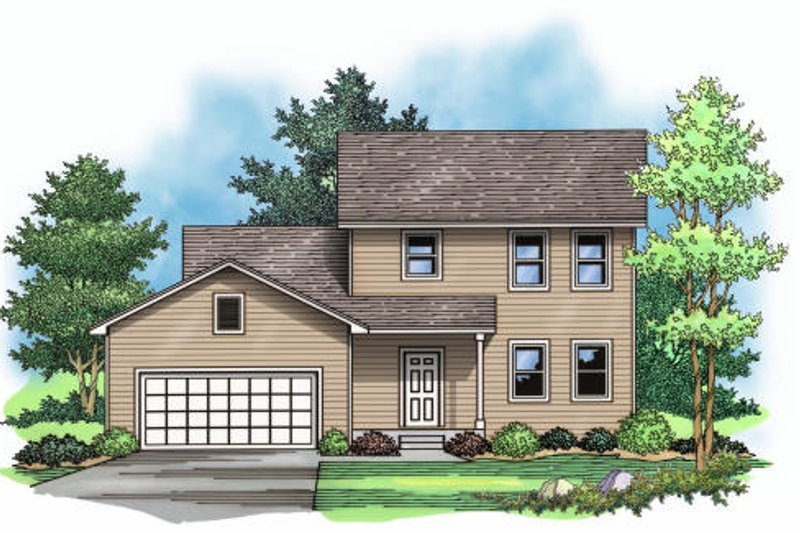 Traditional Exterior - Other Elevation Plan #51-375 - Houseplans.com