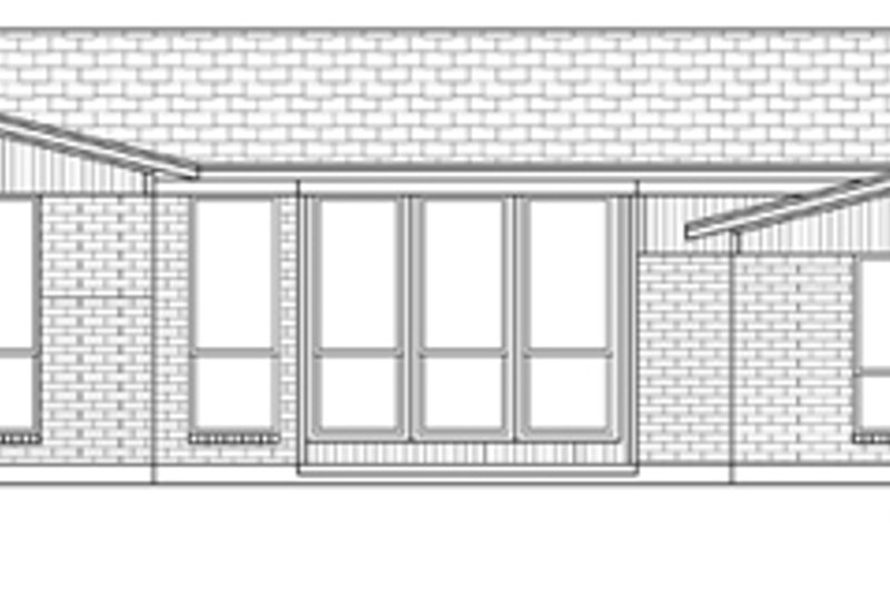 Exterior - Rear Elevation Plan #84-520 - Houseplans.com
