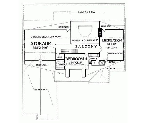 Country Floor Plan - Upper Floor Plan Plan #137-279
