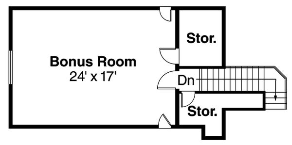 Floor Plan - Upper Floor Plan Plan #124-605
