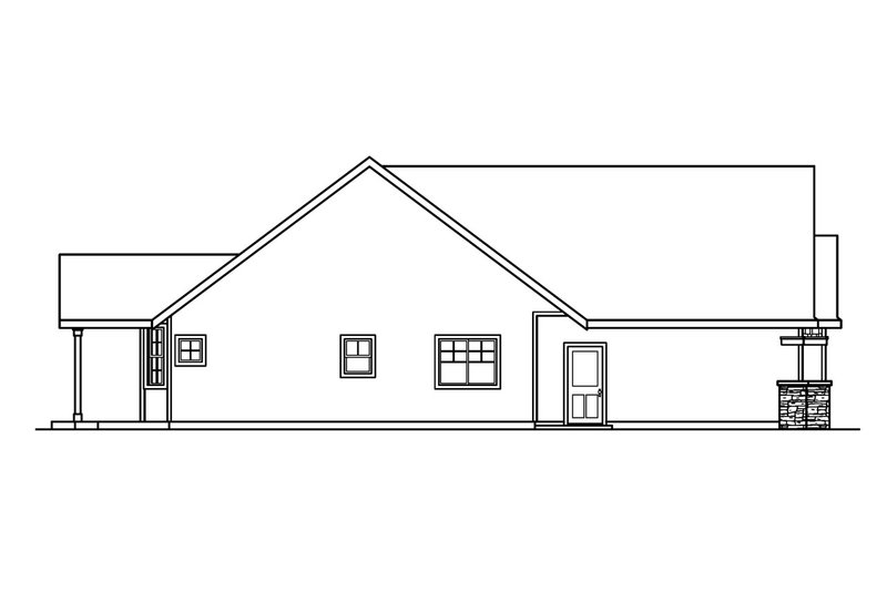 Craftsman Exterior - Other Elevation Plan #124-504 - Houseplans.com
