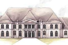 European Exterior - Front Elevation Plan #119-166