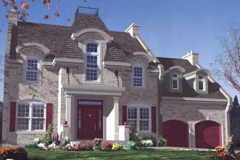 European Style House Plan - 4 Beds 2.5 Baths 2557 Sq/Ft Plan #138-285 Exterior - Front Elevation