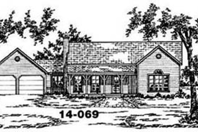 Ranch Exterior - Front Elevation Plan #36-124