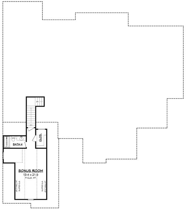 Craftsman Floor Plan - Upper Floor Plan Plan #430-179