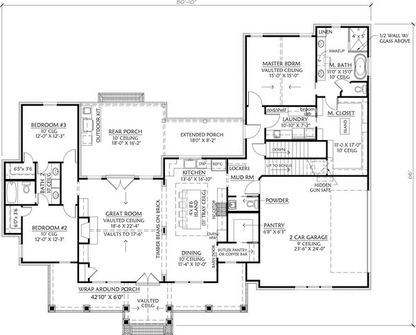 Architectural House Design - Basement Stair Location