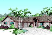 Ranch Style House Plan - 3 Beds 2 Baths 1502 Sq/Ft Plan #60-341 Exterior - Front Elevation