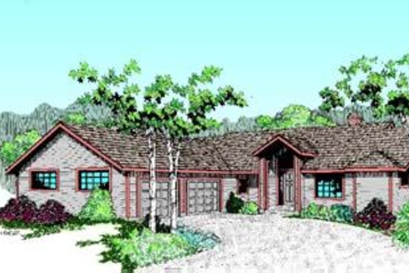Ranch Exterior - Front Elevation Plan #60-341 - Houseplans.com