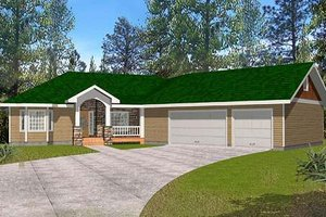 House Plan Design - Country Exterior - Front Elevation Plan #117-572