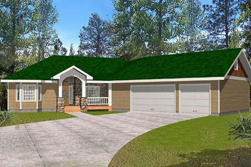 Country Exterior - Front Elevation Plan #117-572 - Houseplans.com