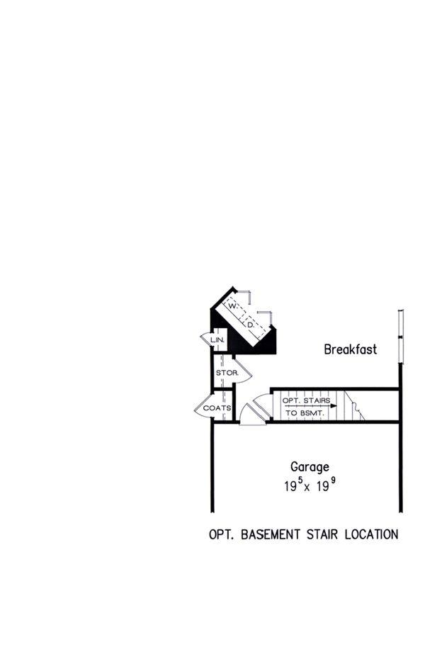 Dream House Plan - Opt. Basement Stair Location