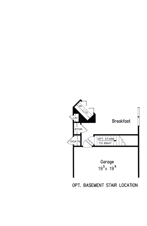 Opt. Basement Stair Location