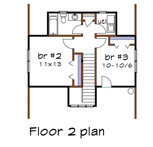 Bungalow Floor Plan - Upper Floor Plan #79-326