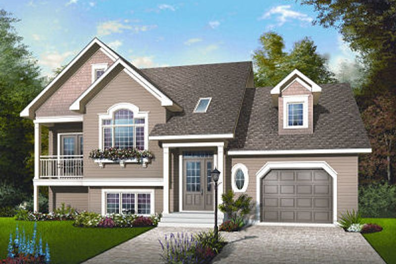Home Plan - Traditional Exterior - Front Elevation Plan #23-817