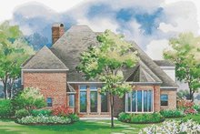 Home Plan Design - European Exterior - Rear Elevation Plan #20-1161
