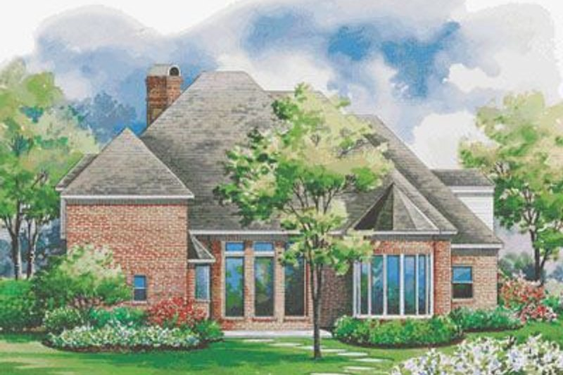 European Exterior - Rear Elevation Plan #20-1161 - Houseplans.com