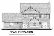 Farmhouse Style House Plan - 5 Beds 2.5 Baths 2002 Sq/Ft Plan #18-268 Exterior - Rear Elevation