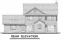 House Plan Design - Farmhouse Exterior - Rear Elevation Plan #18-268
