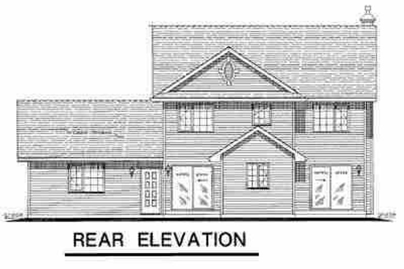 Farmhouse Exterior - Rear Elevation Plan #18-268 - Houseplans.com