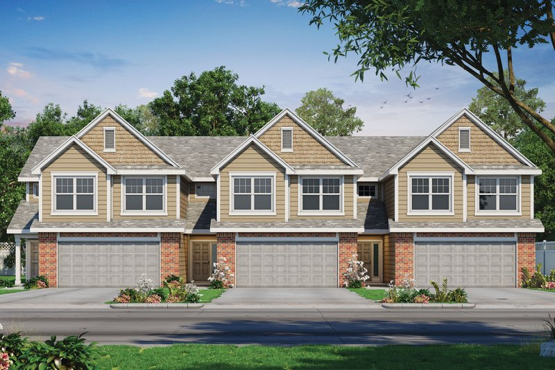 Traditional Style House Plan - 3 Beds 3 Baths 2065 Sq/Ft Plan #20-2356