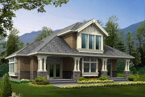 Craftsman Exterior - Front Elevation Plan #132-193