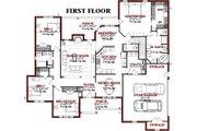 European Style House Plan - 4 Beds 2.5 Baths 2432 Sq/Ft Plan #63-187 Floor Plan - Main Floor Plan