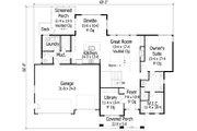 Craftsman Style House Plan - 3 Beds 2.5 Baths 3138 Sq/Ft Plan #51-450 Floor Plan - Main Floor Plan
