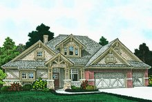 Ranch Exterior - Front Elevation Plan #310-1312