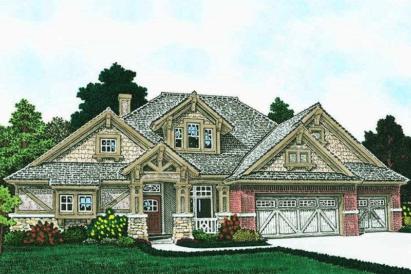 House Plan Design - Ranch Exterior - Front Elevation Plan #310-1312