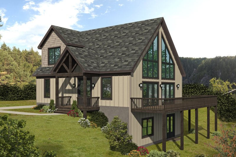 House Plan Design - Traditional Exterior - Front Elevation Plan #932-446