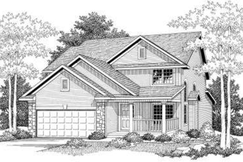 Home Plan - Traditional Exterior - Front Elevation Plan #70-577