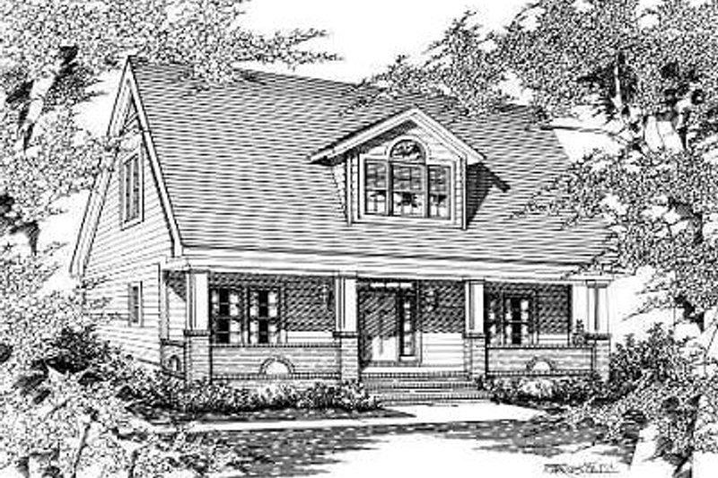 Traditional Style House Plan - 2 Beds 2.5 Baths 2169 Sq/Ft Plan #329-241 Exterior - Front Elevation