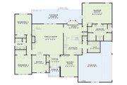 European Style House Plan - 3 Beds 2 Baths 2534 Sq/Ft Plan #17-1038 Floor Plan - Main Floor Plan