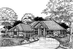 Traditional Exterior - Front Elevation Plan #50-165