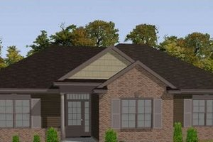 Bungalow Exterior - Front Elevation Plan #63-307